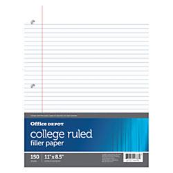 filler paper college ruled Buy mead reinforced filler paper, college-ruled, 11 x 8-1/2, white - 100 sheets/pack : notebooks at samsclubcom.