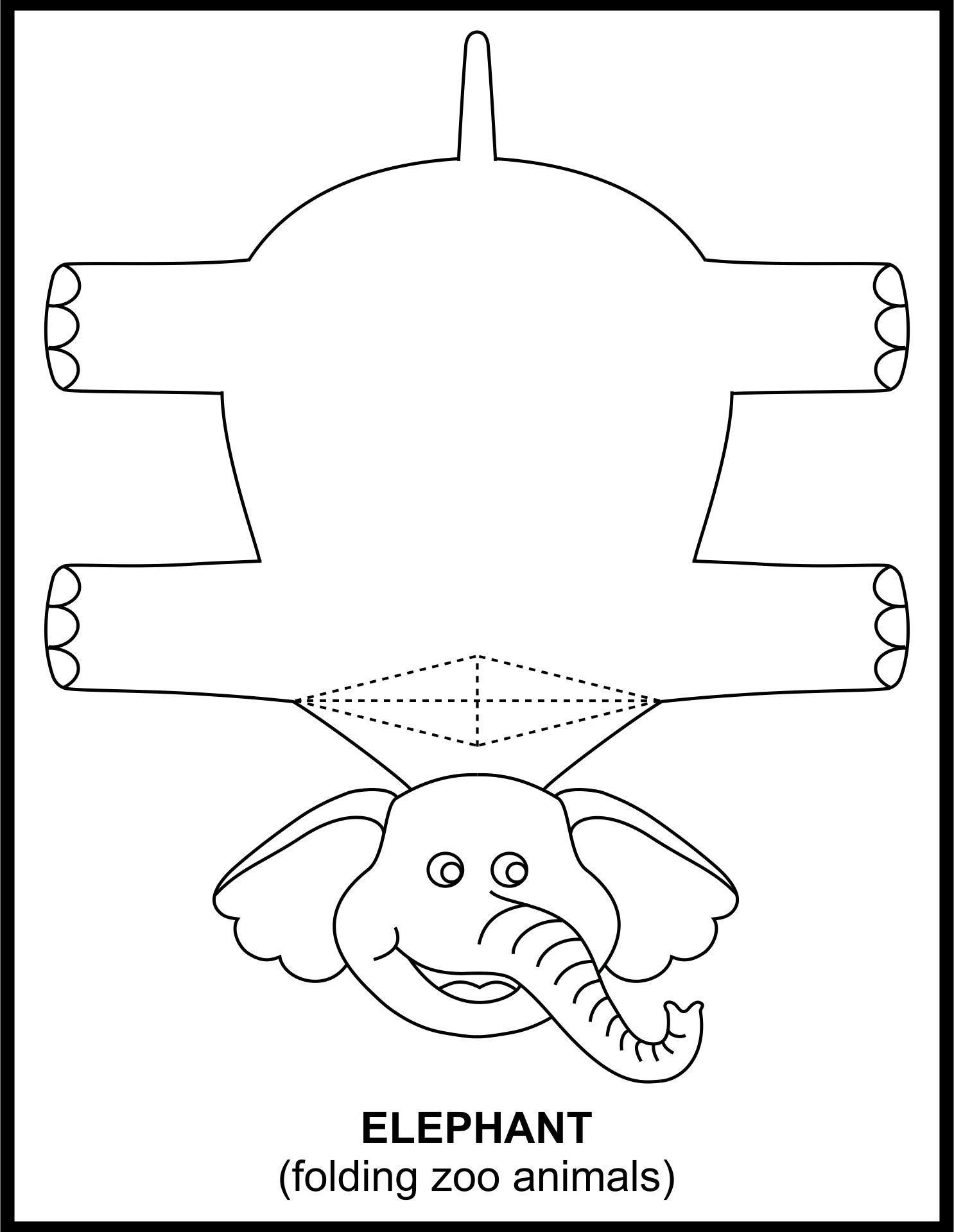 Craft Folding Paper Zoo Animals