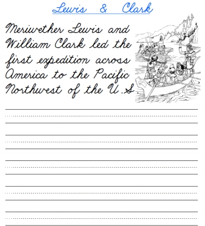 Printable handwriting worksheets sentences