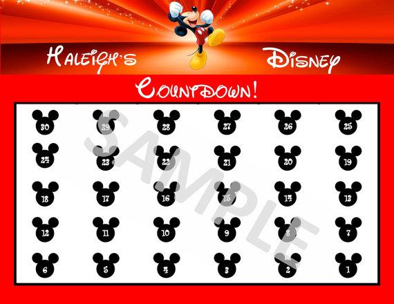 5 Images of Disney Vacation Countdown Calendar Printable