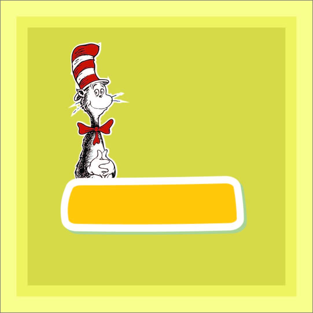 Dr. Seuss Border Clip Art