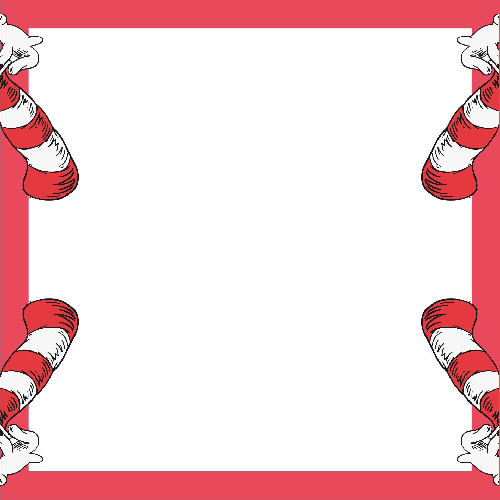 Dr. Seuss Border Paper