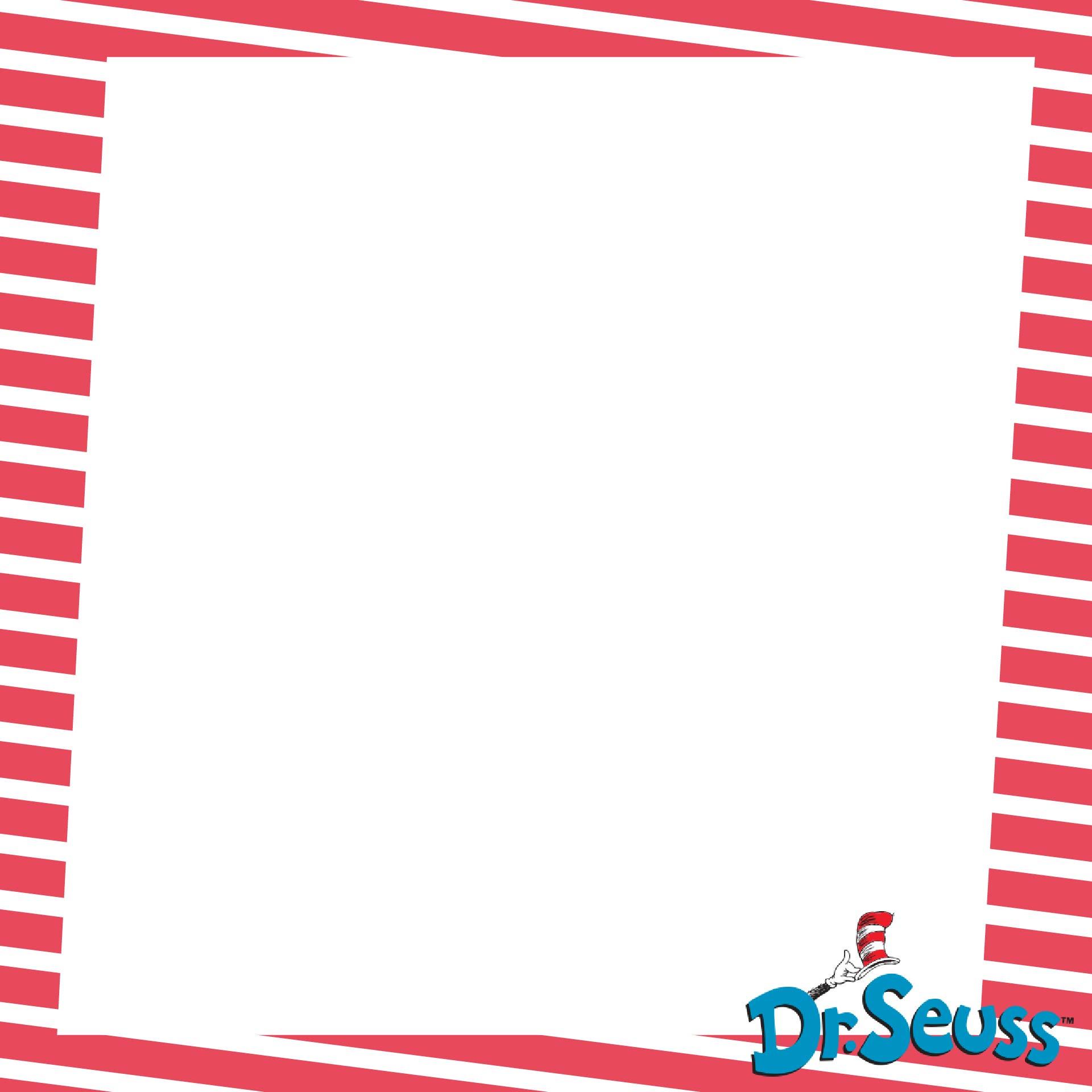Dr. Seuss Printable Border Paper Free