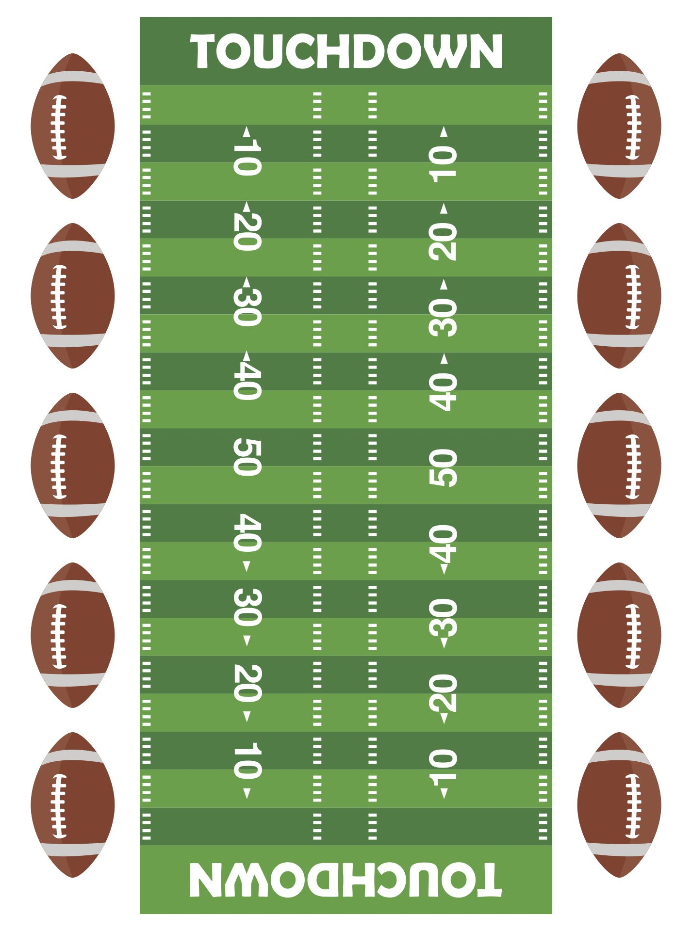Free Printable Football Field