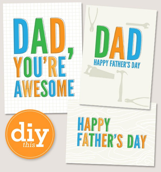 4 Images of Happy Father's Day Card Printable Free