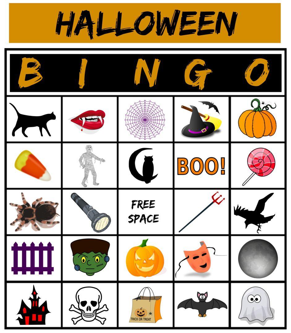 Halloween Bingo Game Cards