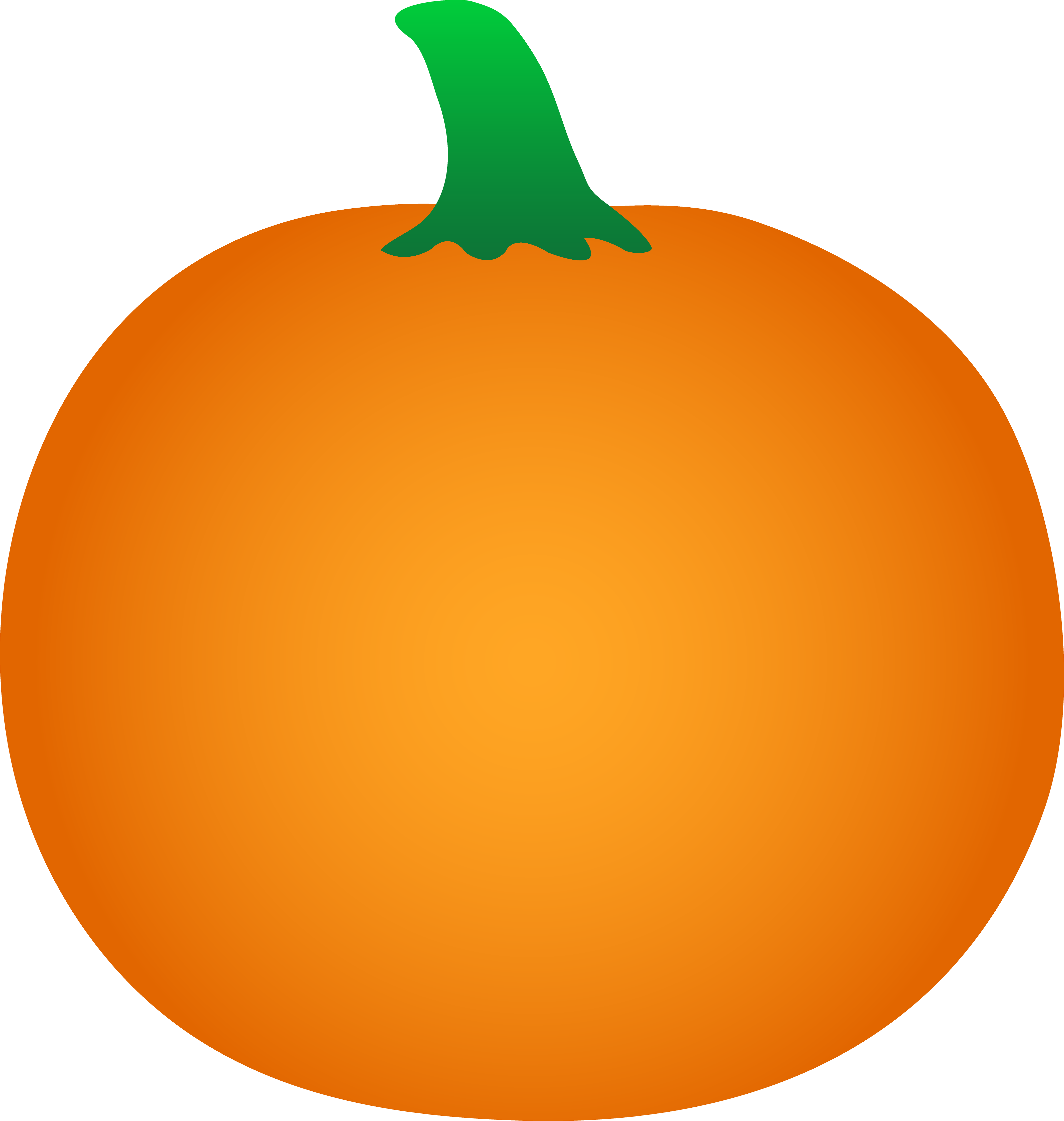 6 Images of Free Printable Orange Pumpkin