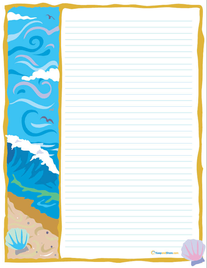 Free Printable Beach Stationary