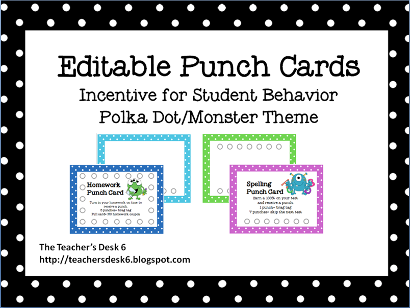 9 best images of printable punch cards free printable for Free punch card template