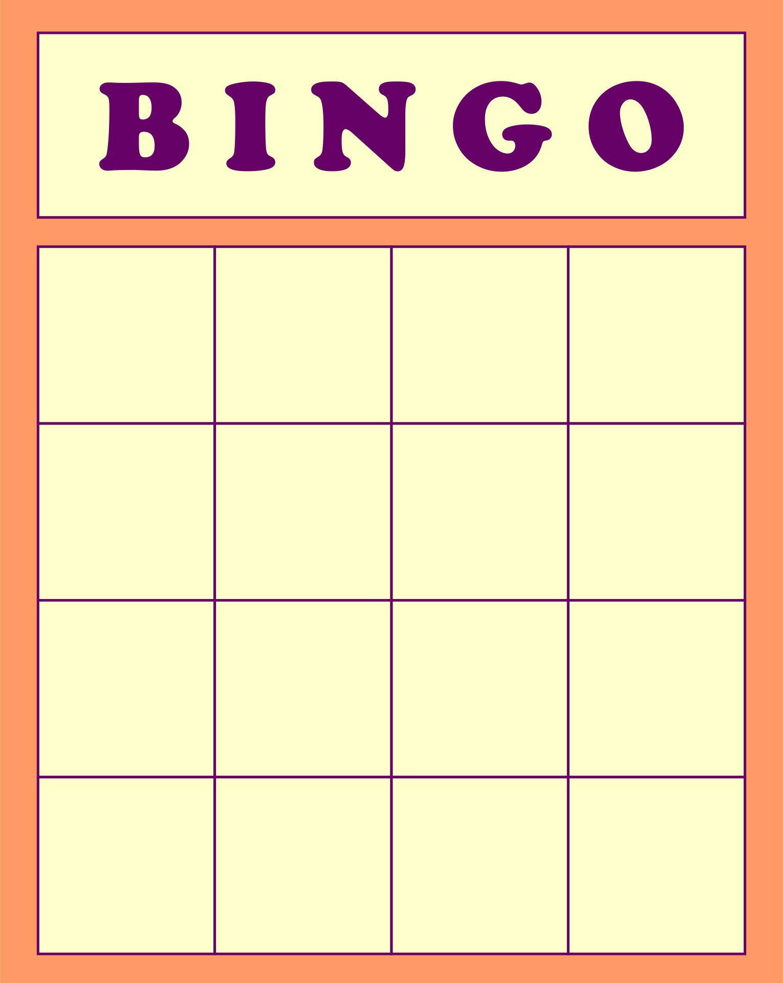 21 Best Printable Human Bingo Templates - printablee.com Inside Blank Bingo Card Template Microsoft Word