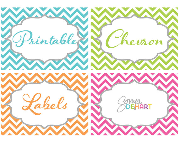chevron label template