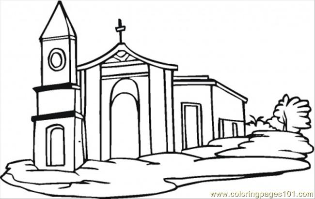 7 Images of Church Building Printable Coloring