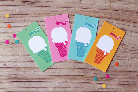 6 Images of Ice Cream Gift Tags Printable