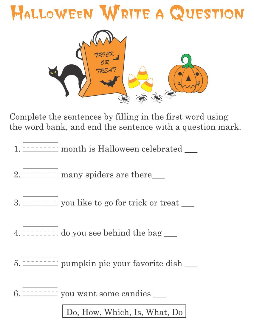 4 Images of Free Printable Halloween Games Activities