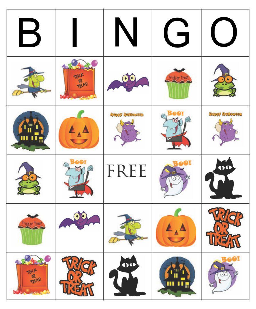 Printable Halloween Bingo Cards