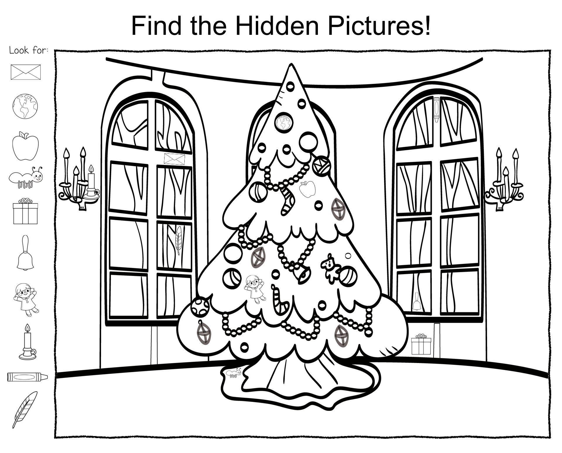 Printable Hidden Pictures Winter