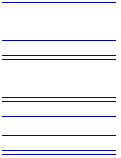 Lined paper to print