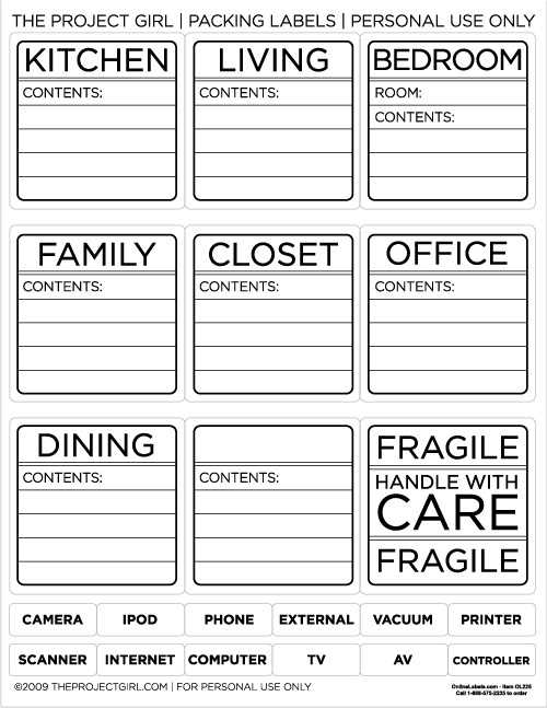 5 Images of Printable Packing Labels