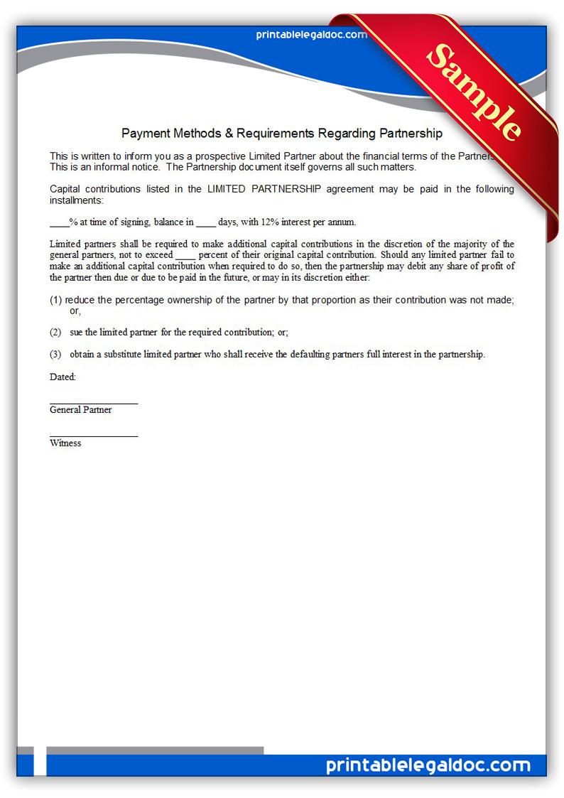8 Images of Free Printable Payment Forms