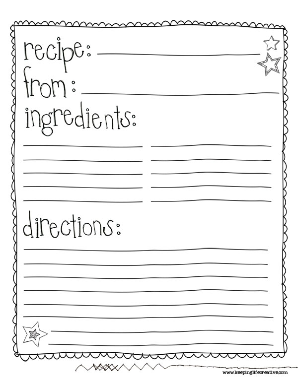 6 Images of Free Printable Recipe Sheet Templates