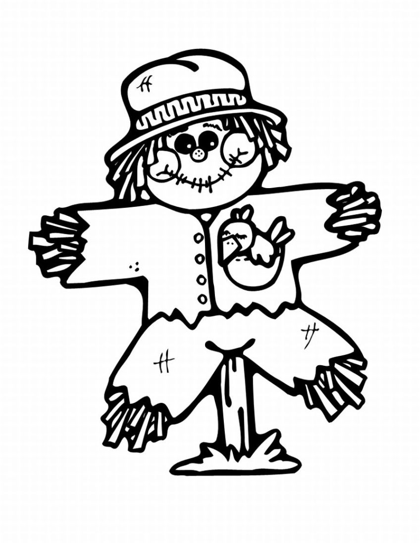 4 Images of Free Printable Scarecrow