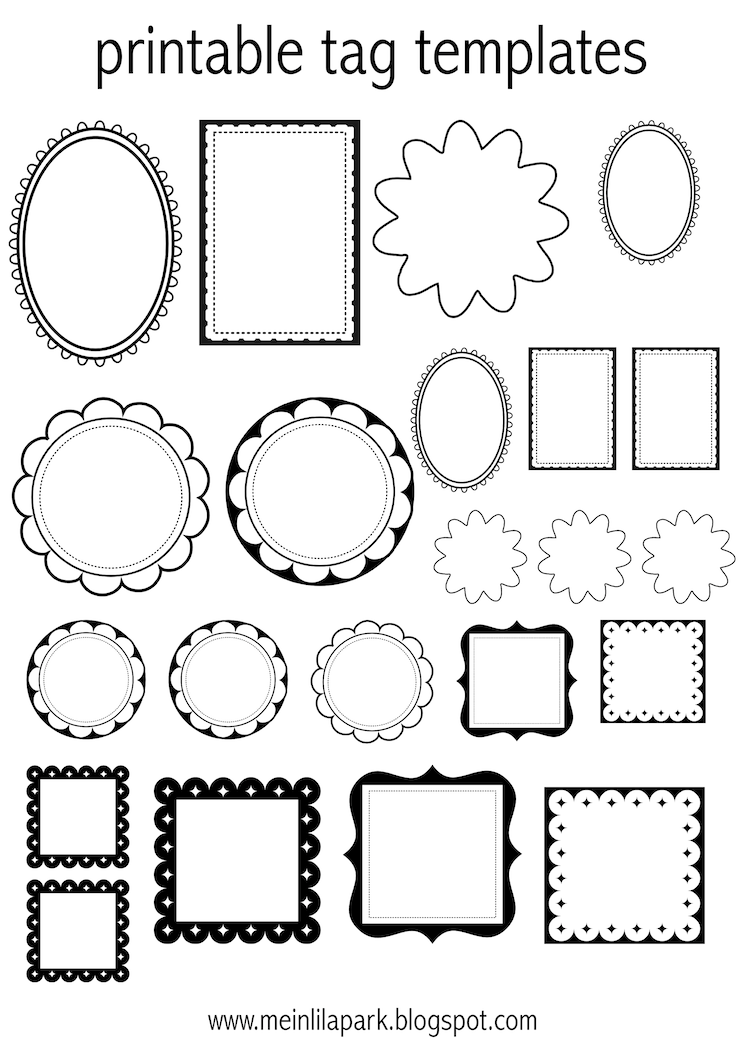 4 Images of Oval Label-Free Printables