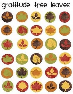 Printable Thanksgiving Leaves