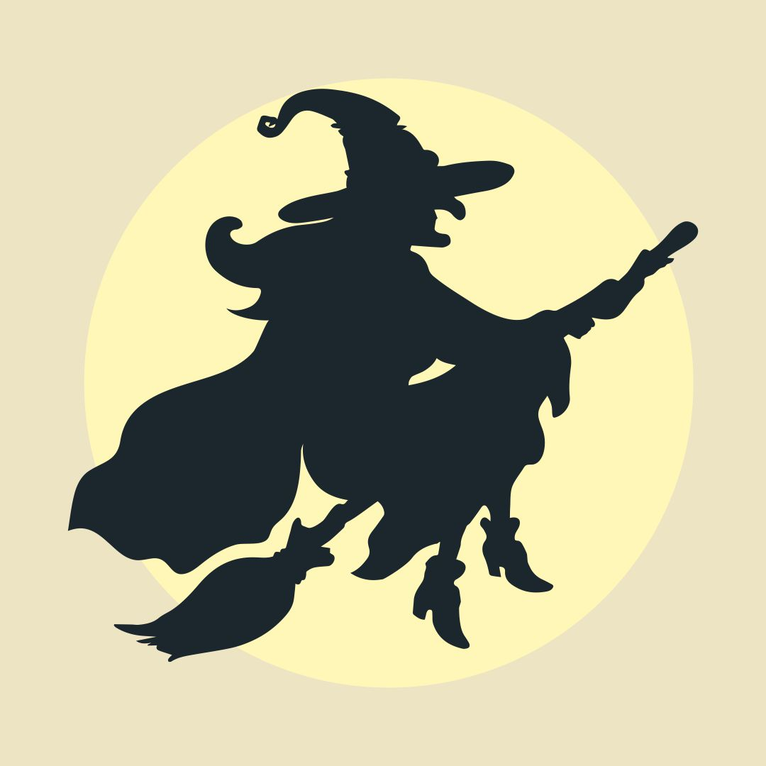 Printable Vintage Halloween Witch
