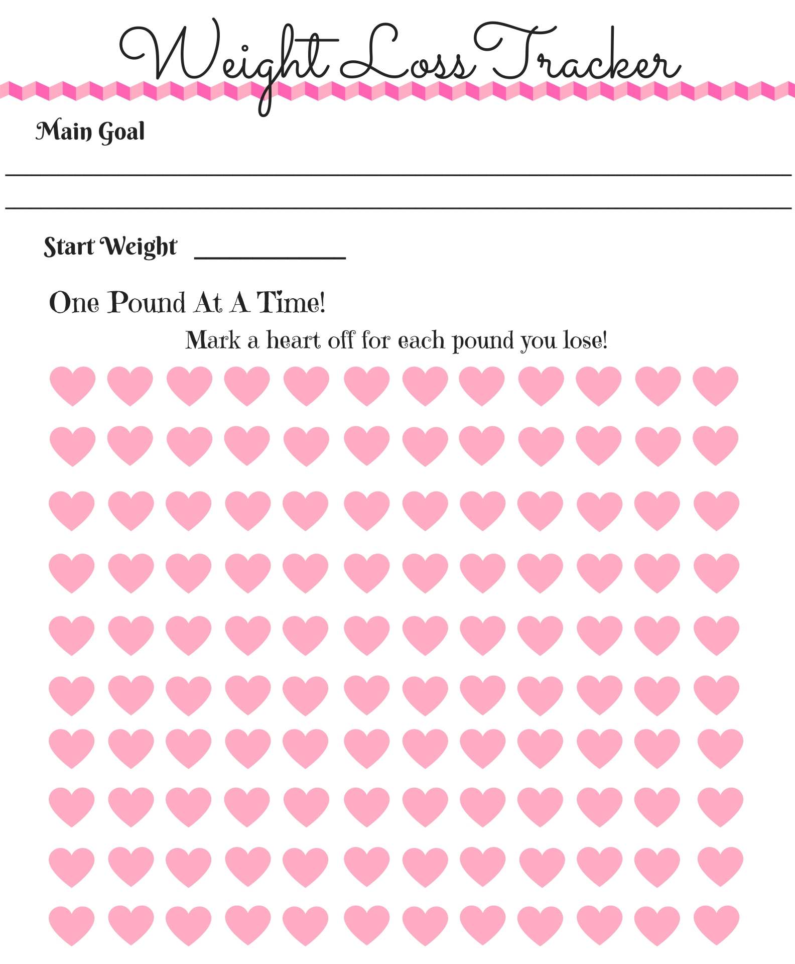 Printable Weight Loss Tracker