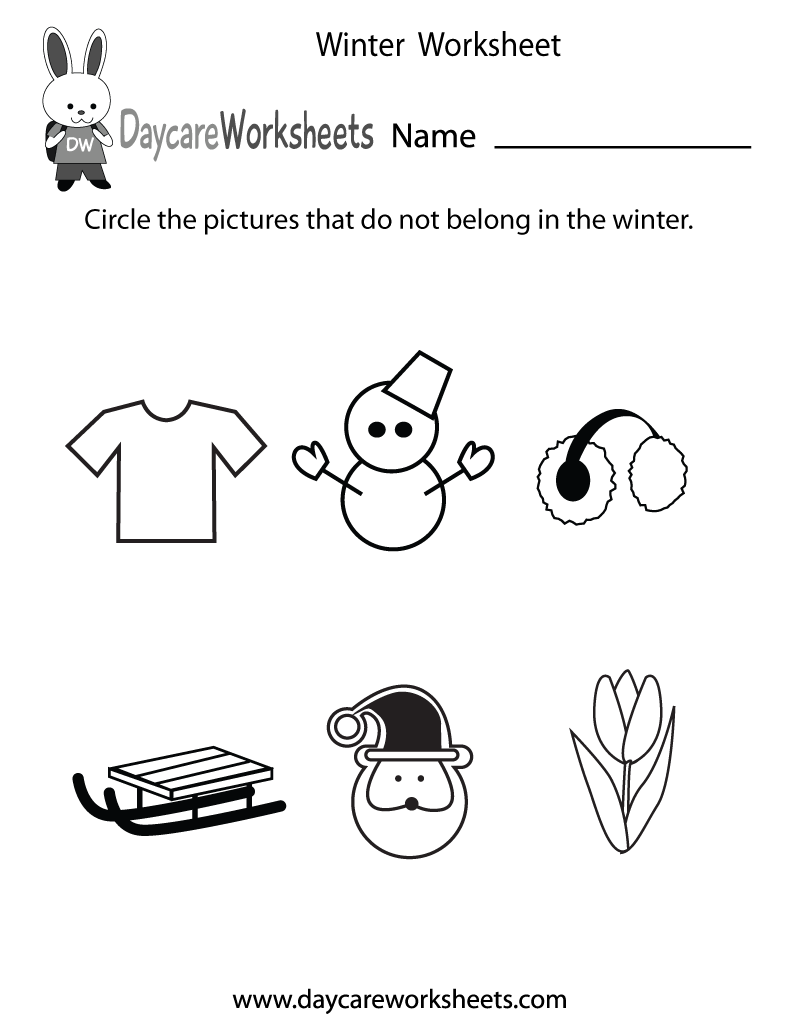 math worksheet : 7 best images of winter printable worksheets  kindergarten winter  : Winter Worksheets Kindergarten
