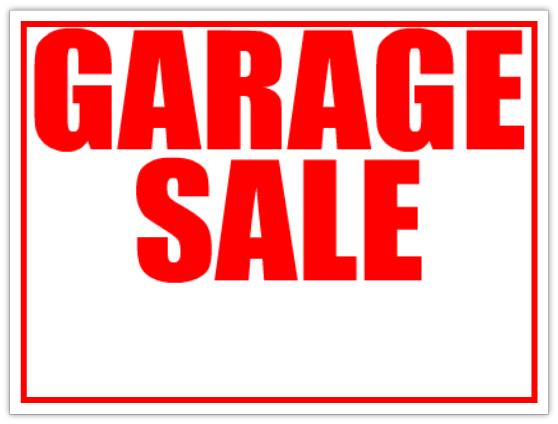 6 Images of Printable Garage Sale Sticker Templates