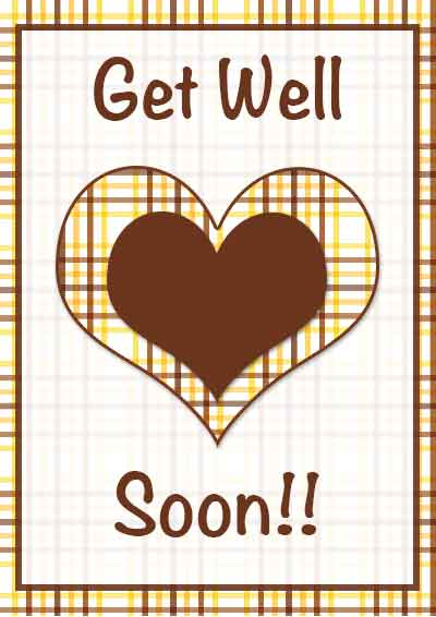 4 Images of Get Well Soon Cards Printable