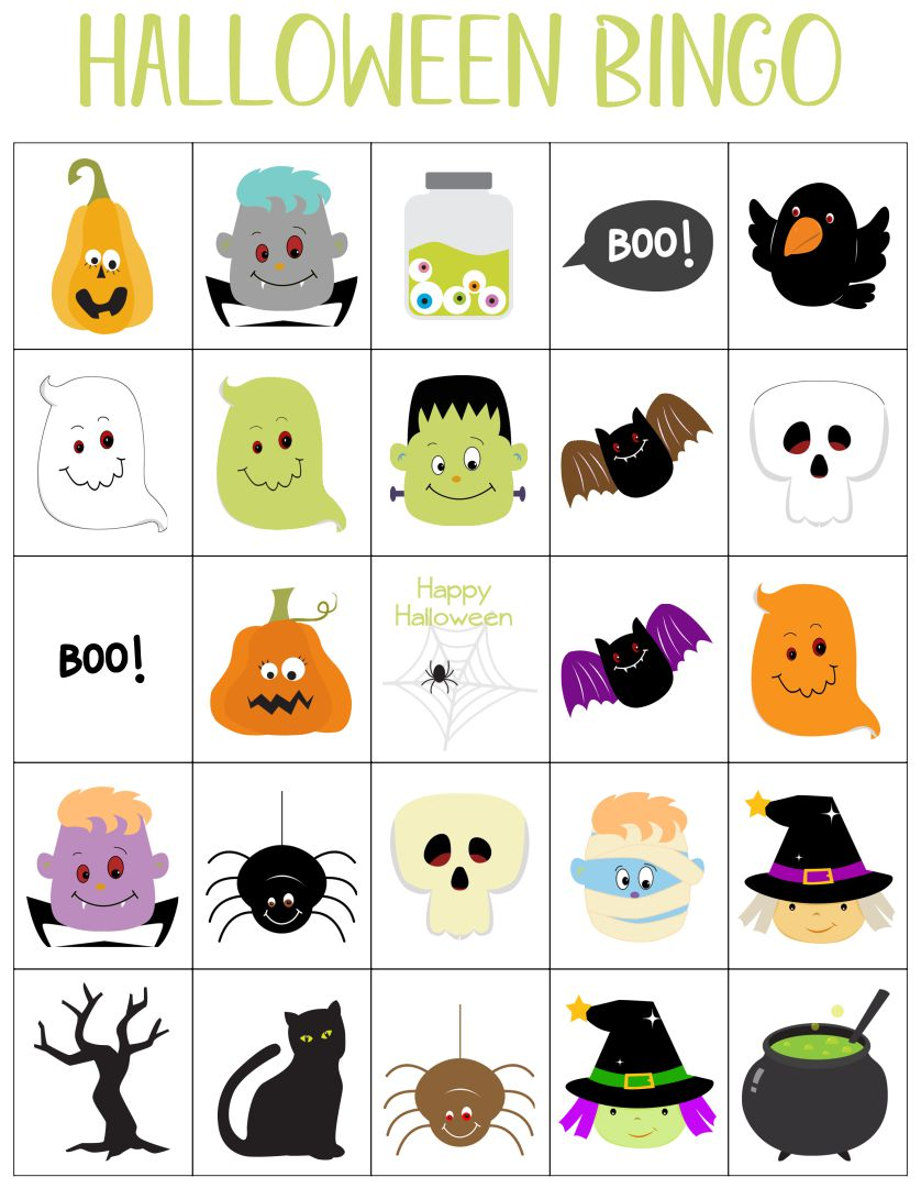 8 Images of Halloween Bingo Printable For 7