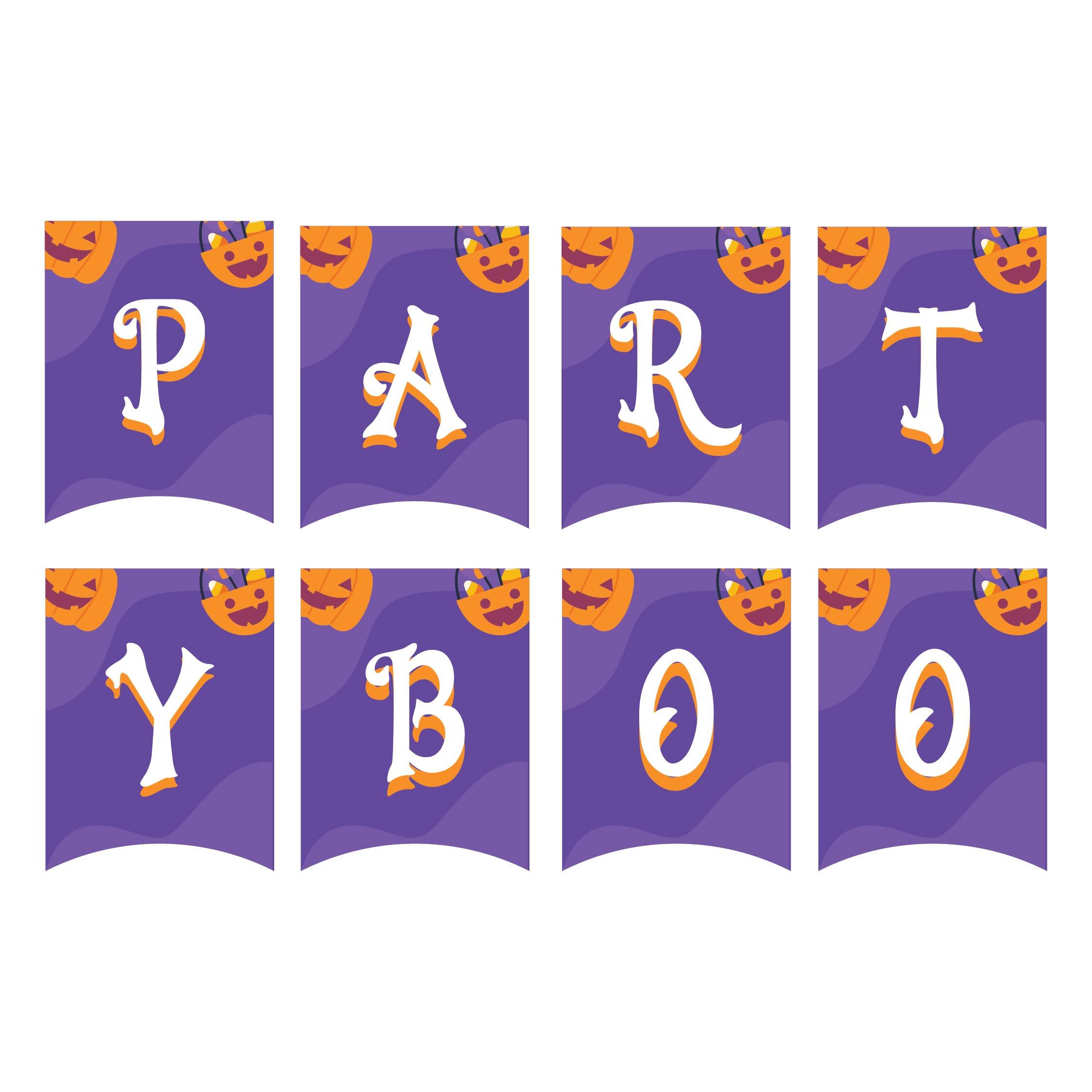 Halloween Boo Banner Printable