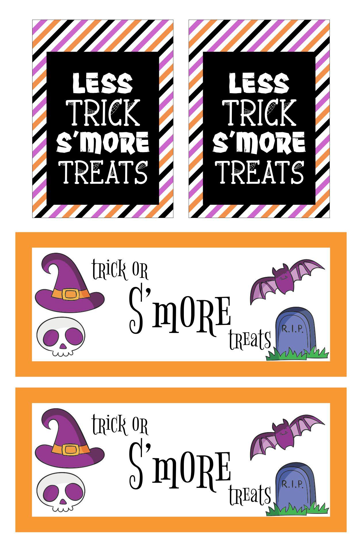 Halloween Smores Printable &