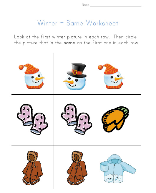 7 Images of Winter Printable Worksheets