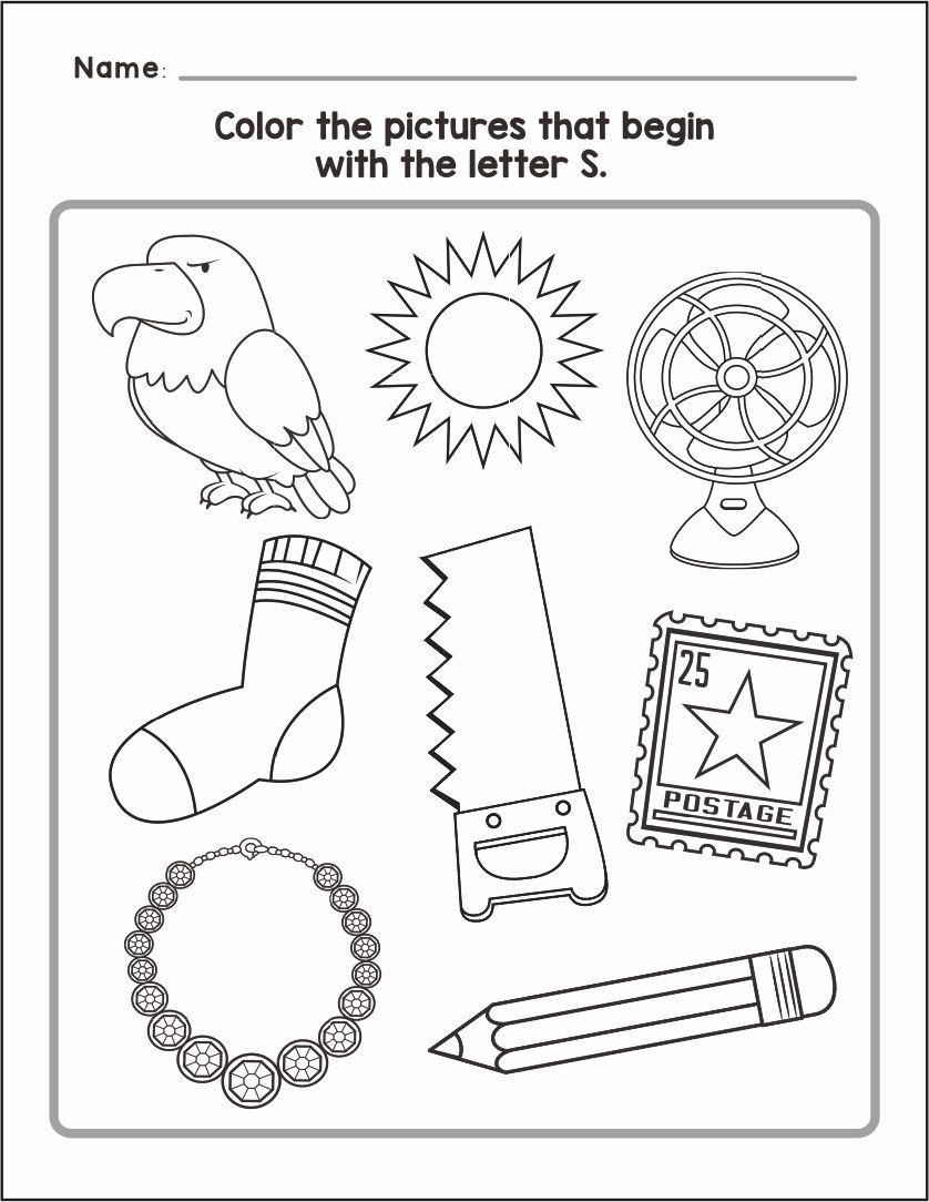 Letter S Worksheets Printables