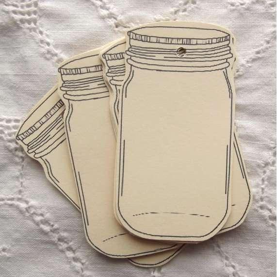 5 Images of Free Printable Mason Jar Tags