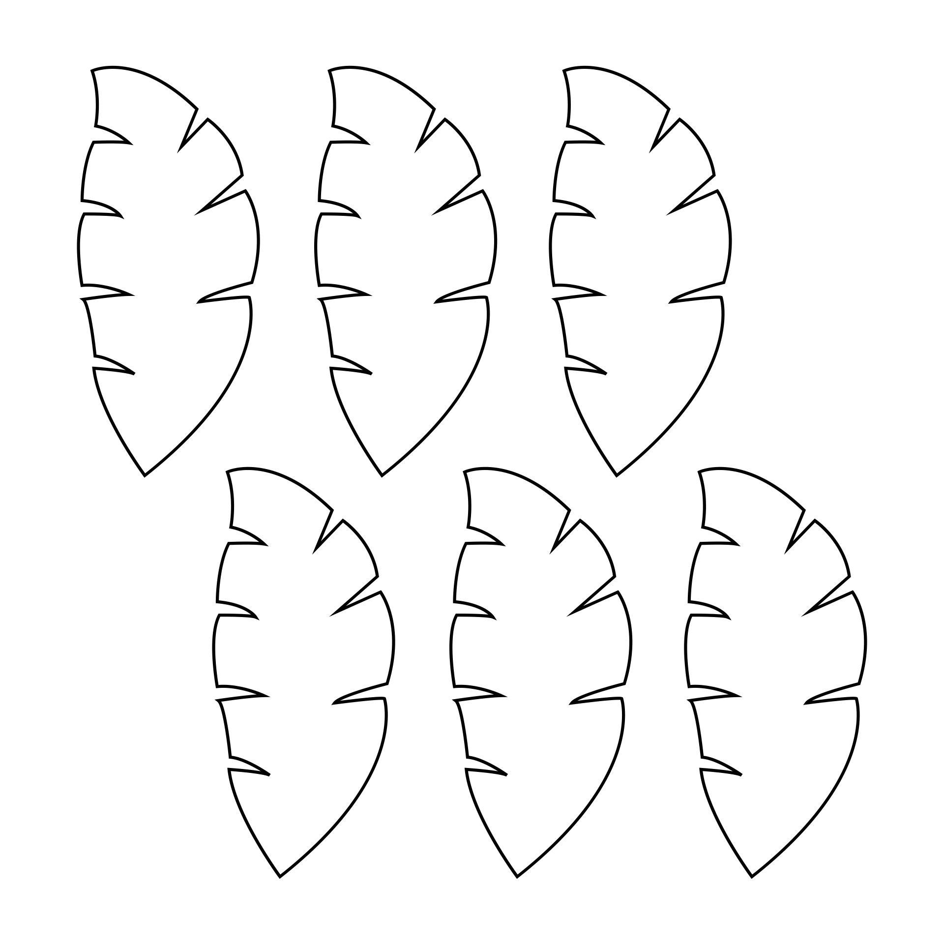 Palm Leaf Template Printable