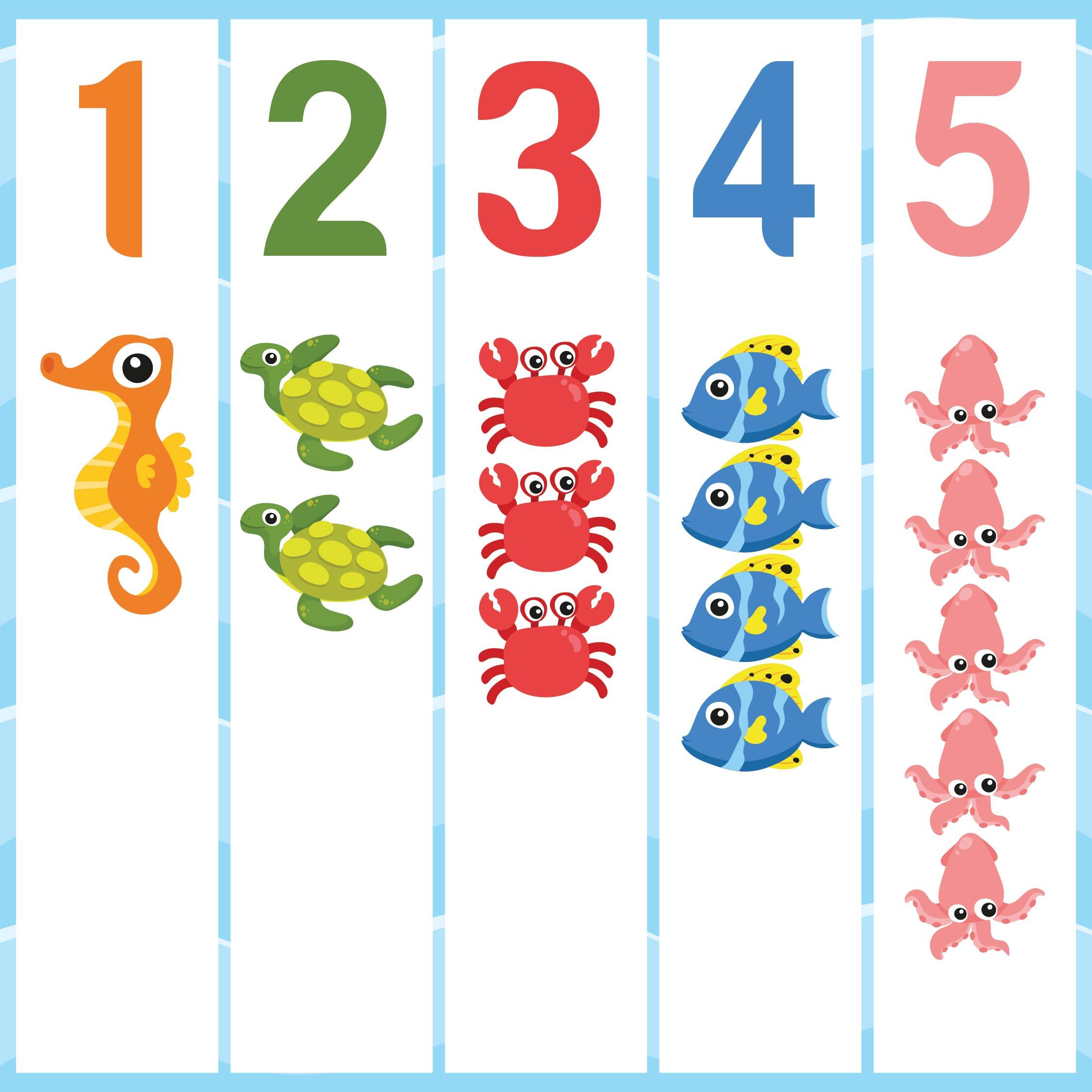 Preschool Worksheets Numbers 1 5