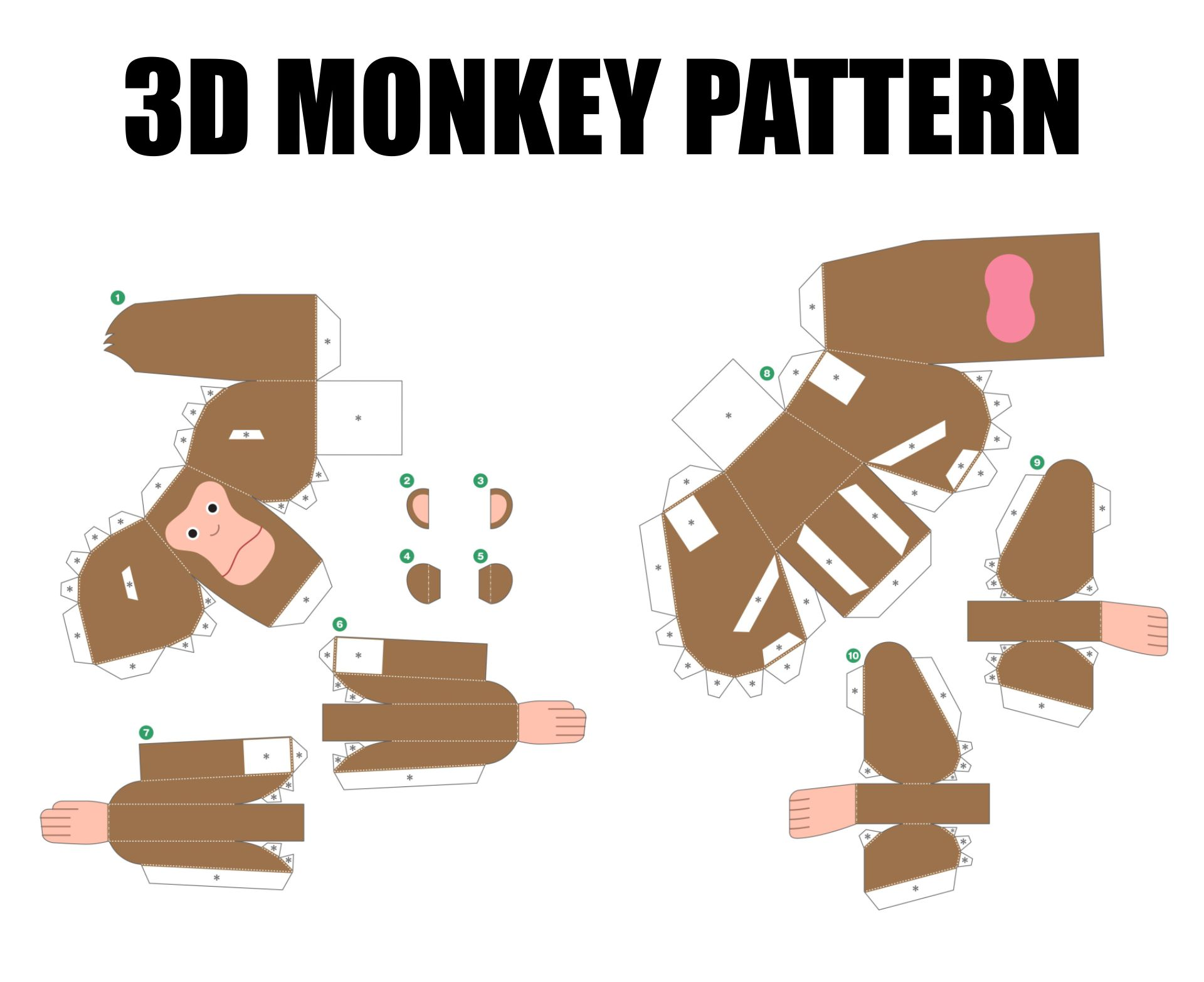 Printable 3D Paper Crafts Animals