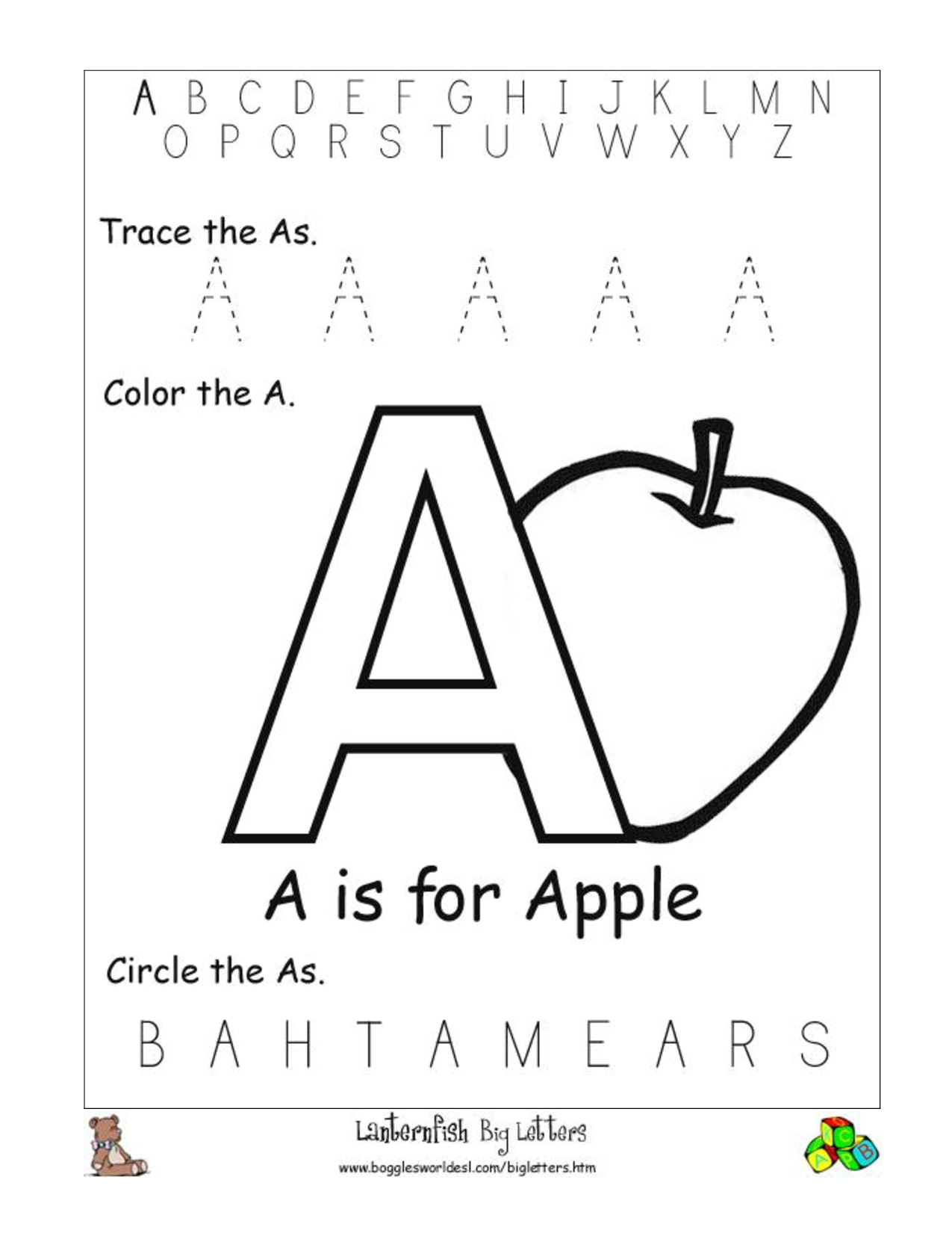 math worksheet : 5 best images of alphabet recognition worksheets printable  : Kindergarten Letter Recognition Worksheets