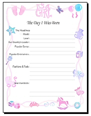7 Images of Free Baby Scrapbook Printables