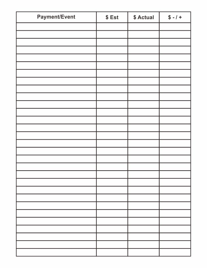 Blank 10 Column Worksheet : Best images of printable column template columns