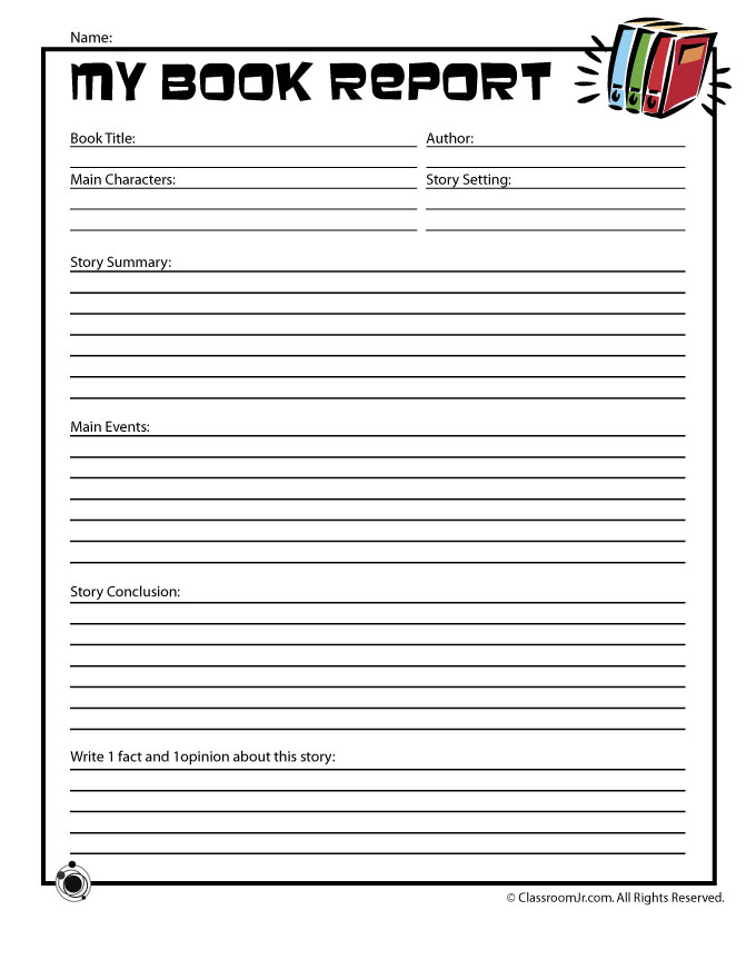 6 Images of Easy Book Report Printable Template