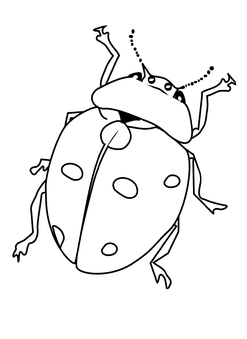 5 Images of Bug Coloring Pages Printable