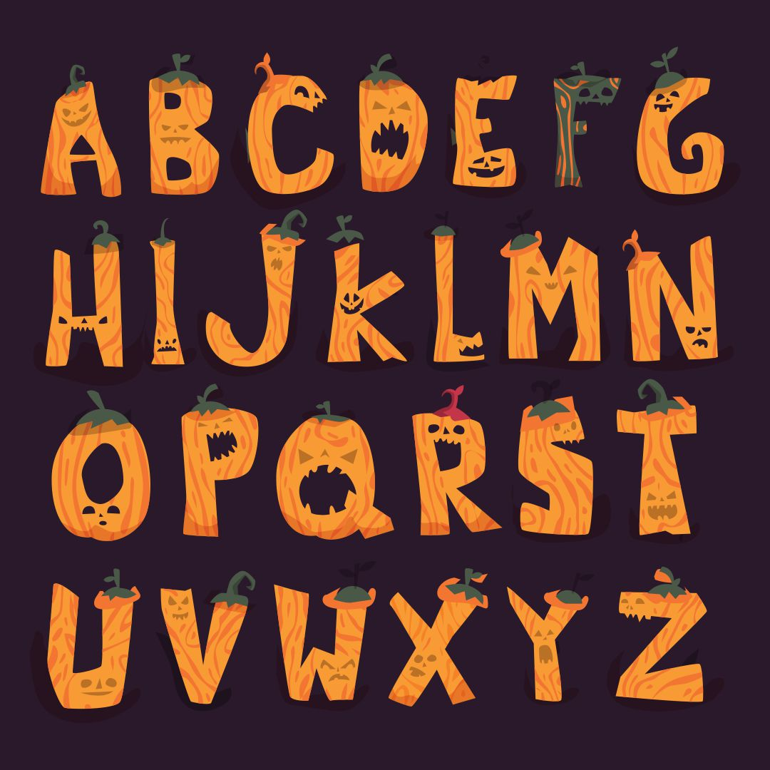 7 Images of Printable Halloween Letters