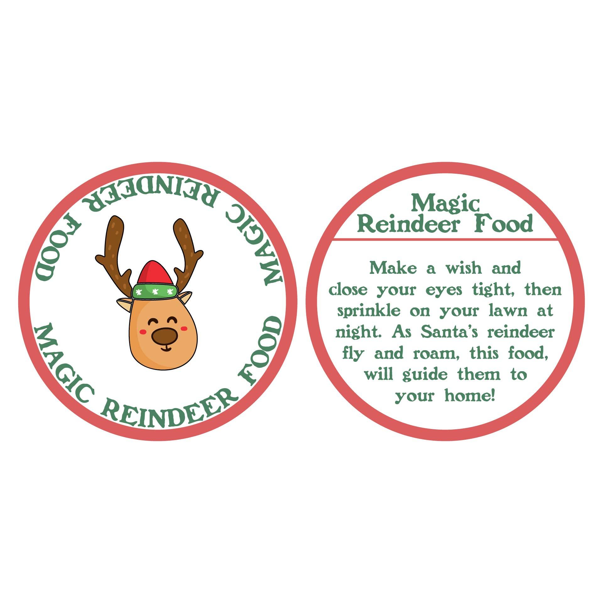 7 Images of Magic Reindeer Food Printable Labels
