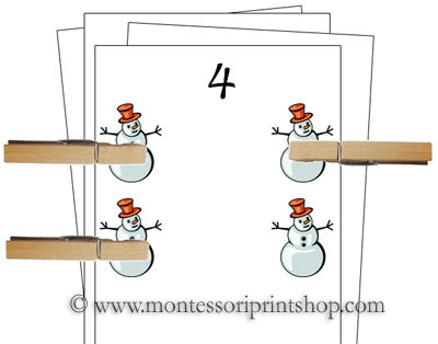 8 Images of Winter Printable Montessori Cards