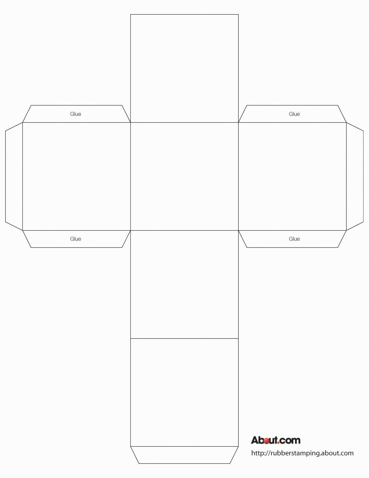 5 Images of Printable Box Template With Lid